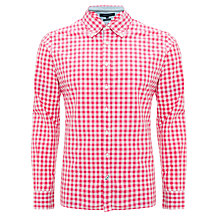 Buy Tommy Hilfiger Brian Check Shirt, Red Online at johnlewis.com