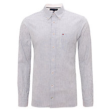 Buy Tommy Hilfiger Fox Stripe Shirt, Navy/White Online at johnlewis.com