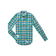 Buy Tommy Hilfiger Henry Check Slim Fit Shirt Online at johnlewis.com