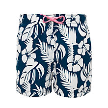 Buy Tommy Hilfiger Tanner Floral Swim Shorts, Navy Online at johnlewis.com