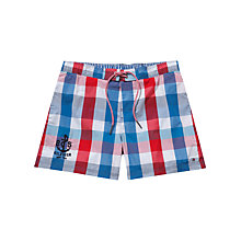 Buy Tommy Hilfiger Mack Gingham Check Swim Shorts Online at johnlewis.com