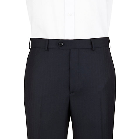 Buy Aquascutum Herringbone Suit Trousers, Navy Online at johnlewis.com