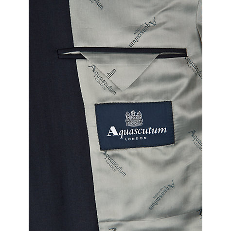 Buy Aquascutum Herringbone Suit Jacket, Navy Online at johnlewis.com