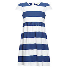 Buy John Lewis Girl Bold Striped Dress, Navy/White Online at johnlewis.com