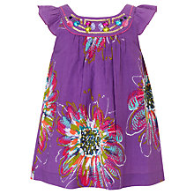 Buy John Lewis Girl Floral Top, Purple Online at johnlewis.com