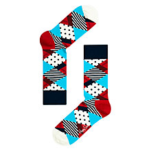 Buy Happy Socks Diamond Dot Socks, Multi Online at johnlewis.com