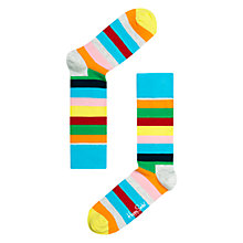 Buy Happy Socks Stripe Socks, Multi Online at johnlewis.com