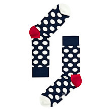 Buy Happy Socks Dot Socks, Navy/White Online at johnlewis.com