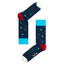 Buy Happy Socks Flag Socks, Navy/Red/White Online at johnlewis.com
