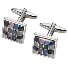 Buy John Lewis Multi Colour Square Cufflinks Online at johnlewis.com