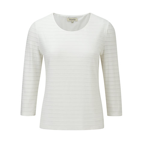Buy Viyella Textured Top, Ivory Online at johnlewis.com