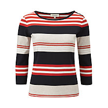 Buy Viyella Ribbed Stripe Top, Multi Online at johnlewis.com