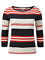 Viyella Ribbed Stripe Top, Multi
