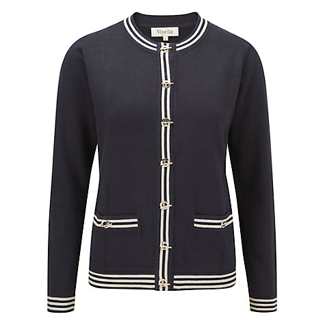 Buy Viyella Eyelet Detail Cardigan, Navy Online at johnlewis.com