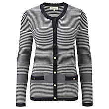 Buy Viyella Trimmed Cardigan, Navy Online at johnlewis.com