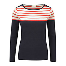 Buy Viyella Striped Yoke Jumper, Navy Online at johnlewis.com