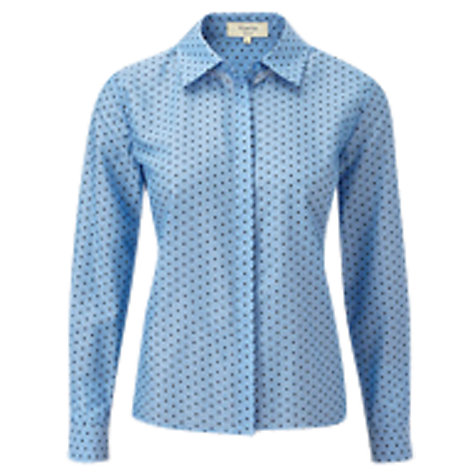 Buy Viyella Petite Spot Print Blouse, Cornflower Online at johnlewis.com