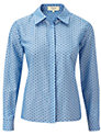 Buy Viyella Petite Spot Print Blouse, Cornflower, 10 Online at johnlewis.com