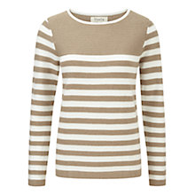 Buy Viyella Striped Jumper, Pumice Online at johnlewis.com