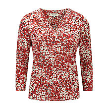 Buy Viyella Ditsy Daisy Printed Top, Scarlet Online at johnlewis.com