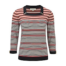 Buy Viyella Textured Stripe Jumper, Multi Online at johnlewis.com