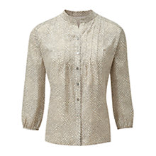 Buy Viyella Printed Blouse, Pumice Online at johnlewis.com