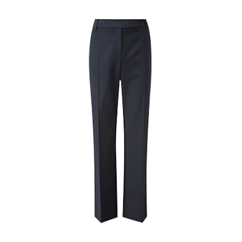"Buy Viyella Straight Leg Trousers, 32"", Long Length, Navy Online at johnlewis.com"