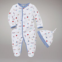 Buy John Lewis Baby Animal and Soldier All In One with Hat Online at johnlewis.com