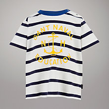 Buy Gant Anchor T-Shirt, White/Navy Online at johnlewis.com