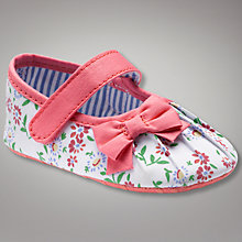Buy John Lewis Baby Floral Mary Jane Shoes Online at johnlewis.com