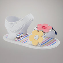 Buy John Lewis Baby Flower Sandals, Multi Online at johnlewis.com