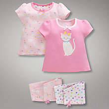 Buy John Lewis Cat Pyjamas, Pack of 2, Pink Online at johnlewis.com