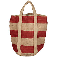 Buy Nkuku Bansi Jute Bag, Red Online at johnlewis.com