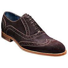 Buy Barker Grant Suede Brogue Oxford Shoes Online at johnlewis.com