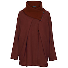 Buy James Lakeland Zipped Knitted Cape, Burgundy Online at johnlewis.com