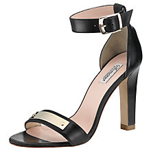 Buy Somerset by Alice Temperley Primrose Leather Block Stiletto Sandals Online at johnlewis.com