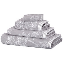 Buy John Lewis Cow Parsley Towels, Mineral Online at johnlewis.com