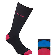 Buy Ted Baker Heel & Toe Logo Socks, Pack of 2 Online at johnlewis.com