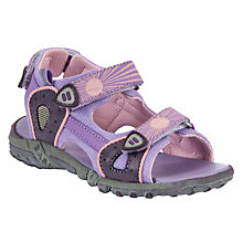 Buy John Lewis Girl Trekker Sandals, Purple Online at johnlewis.com