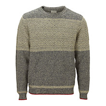 Buy Selected Homme Matt Crew Neck Jumper, Blue/Cream Online at johnlewis.com