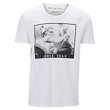 Buy Selected Homme James Dean Print T-Shirt Online at johnlewis.com