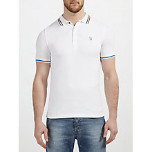 Buy Diesel T-Nyx Stripe Collar Polo Shirt Online at johnlewis.com