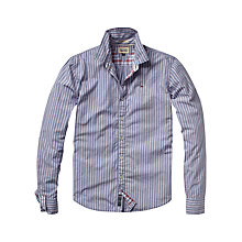 Buy Hilfiger Denim Tobert Multi Stripe Long Sleeve Shirt, Blue Online at johnlewis.com