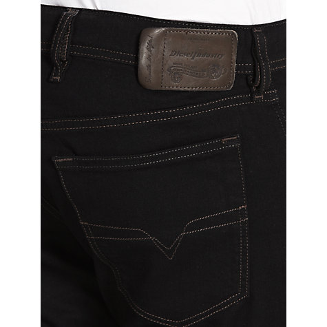Buy Diesel Waykee Straight Jeans, Black Stressed 886Z Online at johnlewis.com