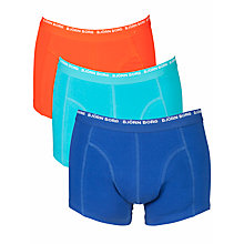 Buy Bjorn Borg Contrast 3 To Go Trunks, Surf Blue Online at johnlewis.com