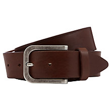 Buy John Lewis Made in Italy Wide Leather Belt, Brown Online at johnlewis.com