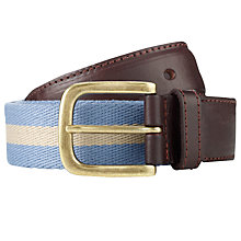 Buy John Lewis Stripe Chino Belt, Light Blue Online at johnlewis.com