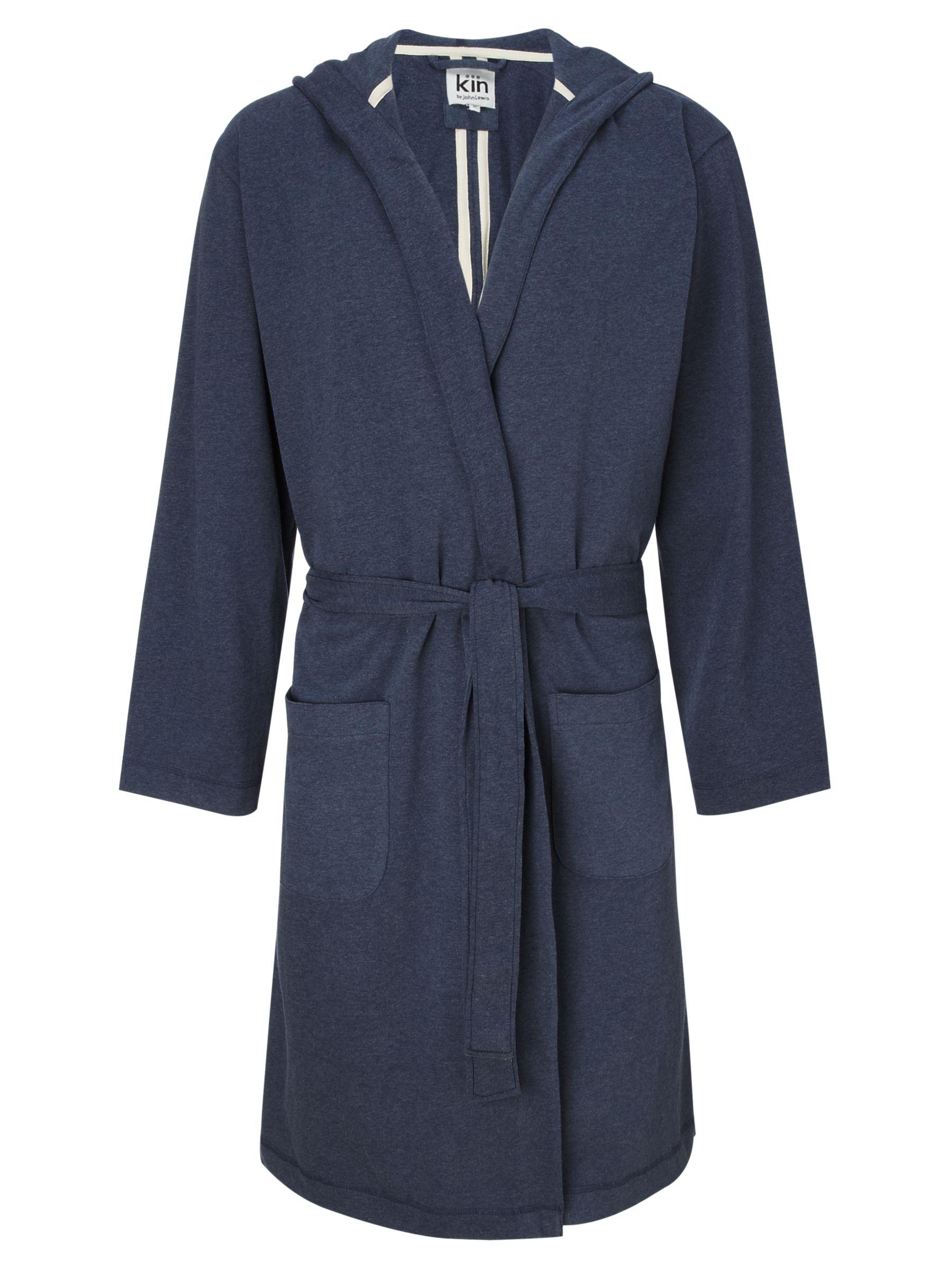 Kin by John Lewis Marl Jersey Robe, Navy