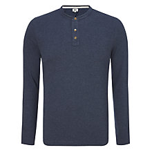 Buy Kin by John Lewis Long Sleeve Grandad T-Shirt, Navy Online at johnlewis.com