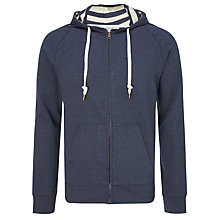 Buy Kin by John Lewis Melange Rib Hoodie, Navy Online at johnlewis.com